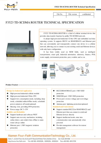 F3523 Industrial TD-SCDMA ROUTER