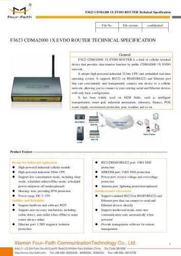 F3623 Industrial CDMA2000 1X EVDO ROUTER