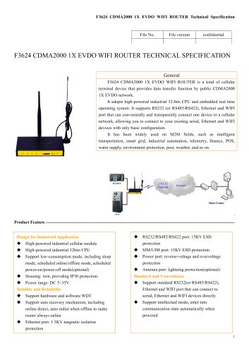 F3624 Industrial EVDO Router,3g wifi router