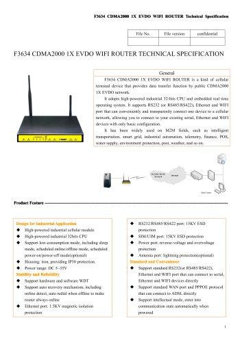 F3634 Industrial EVDO ROUTER