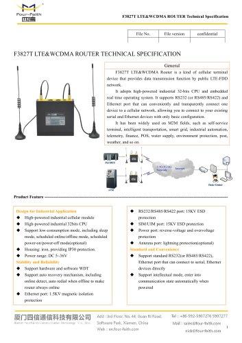 F3827T LTE&WCDMA ROUTER