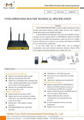 F3930 GPRS&CDMA M2M Industrial ROUTER