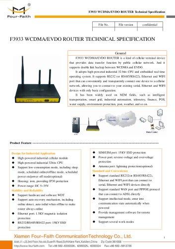 F3933 WCDMA&EVDO M2M 3G ROUTER