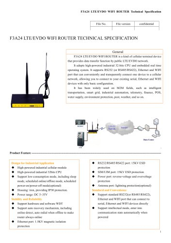 F3A24 Industrial wifi router,LTE/EVDO ROUTER