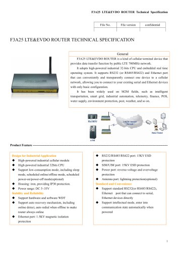F3A25 m2m industrial LTE/EVDO ROUTER