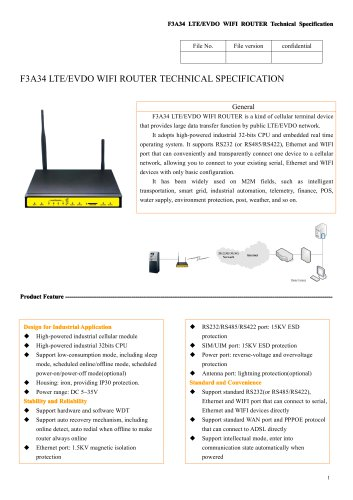 F3A34 Industrial LTE/EVDO Router