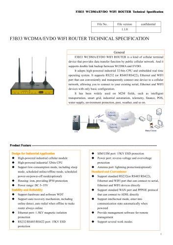 F3B33 WCDMA&EVDO Industrial  WIFI ROUTER