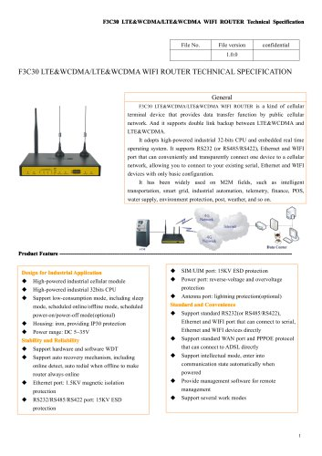 F3C30 industrial 4G Double card router