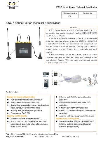 F3X27 Series Router Technical Specification V2.0.1