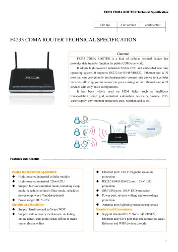 F4233 M2M Industrial CDMA ROUTER