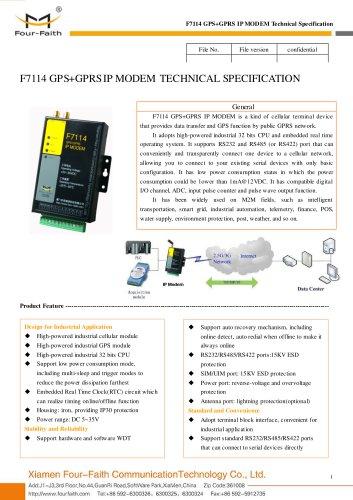 F7114 GPS+GPRS Industrial IP MODEM