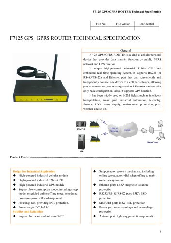 F7125 GPS+GPRS ROUTER