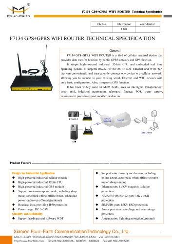 F7134 GPS+GPRS WIFI ROUTER