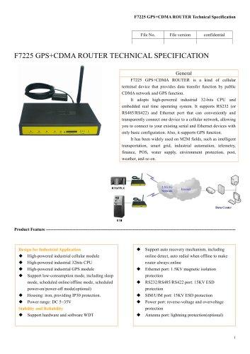 F7225 GPS+CDMA ROUTER
