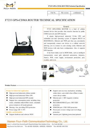 F7233 GPS+CDMA M2M CDMA ROUTER