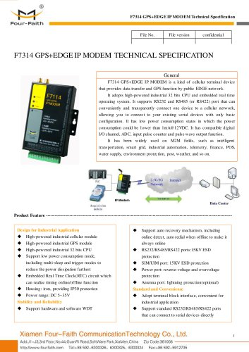 F7314 GPS+EDGE IP MODEM,industrial DTU