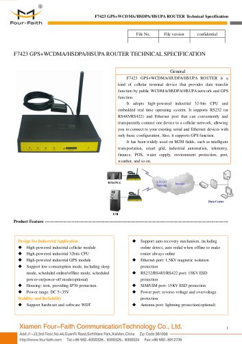 F7423 GPS+WCDMA 3G ROUTER