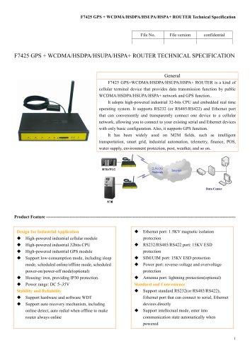 F7425 GPS+WCDMA&HSDPA&HSUPA&HSPA+ ROUTER