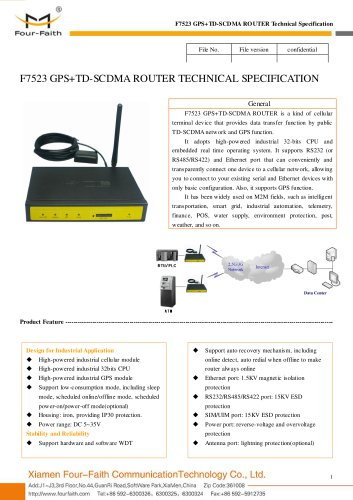 F7523 GPS+TD-SCDMA ROUTER