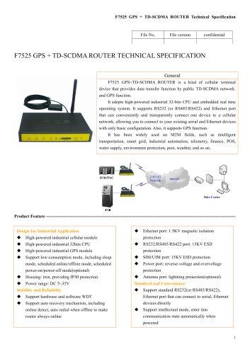 F7525 GPS+TD-SCDMA ROUTER
