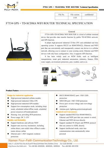 F7534 GPS+TD-SCDMA WIFI ROUTER