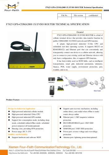 F7623 GPS+EVDO M2M Wireless ROUTER