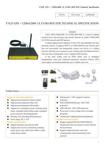 F7625 GPS+CDMA2000 1X EVDO ROUTER