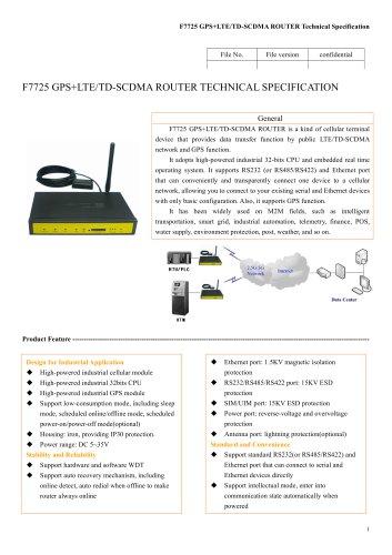 F7725 GPS+LTE&TD-SCDMA ROUTER