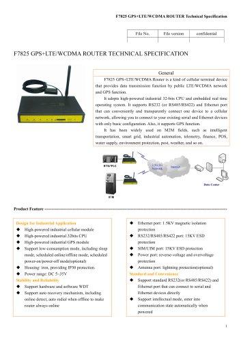 F7825 GPS+LTE&WCDMA ROUTER