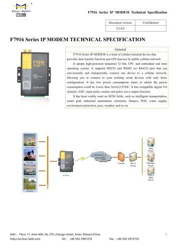 F7916 Series IP MODEM
