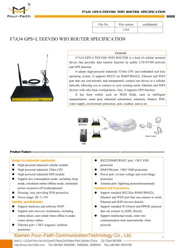 F7A34 m2m Industrial GPS+LTE&EVDO WIFI ROUTER