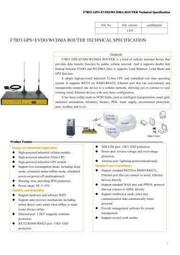 F7B33 GPS+WCDMA&EVDO Industrial ROUTER