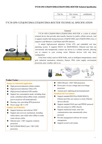 F7C30 GPS+LTE&WCDMA&LTE&WCDMA Industrial ROUTER