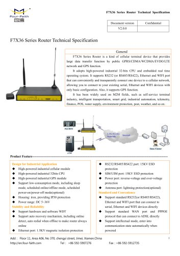 F7X36 Series Router Technical Specification V2.0.0