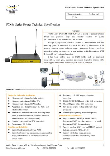 F7X46 Series Router Technical Specification V2.0.0