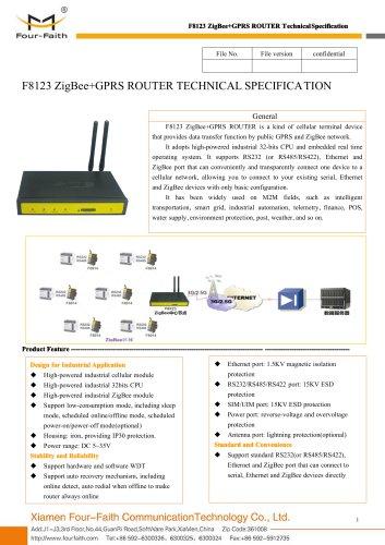 F8123 ZigBee+GPRS ROUTER
