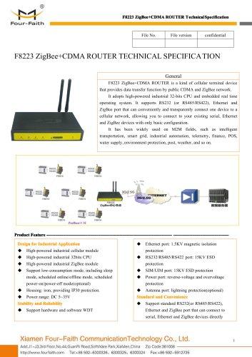 F8223 ZigBee+CDMA ROUTER