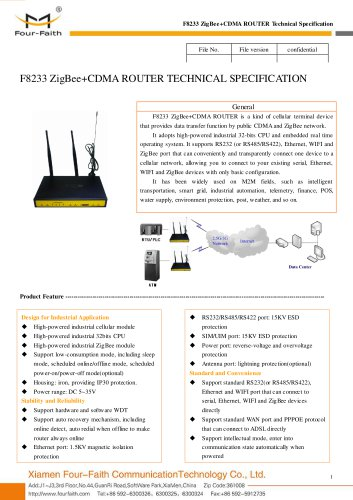 F8233 ZigBee+CDMA ROUTER