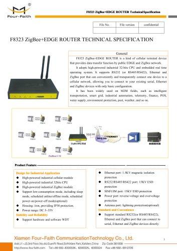 F8323 ZigBee+EDGE ROUTER