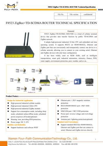 F8423 ZigBee+WCDMA/HSDPA/HSUPA ROUTER