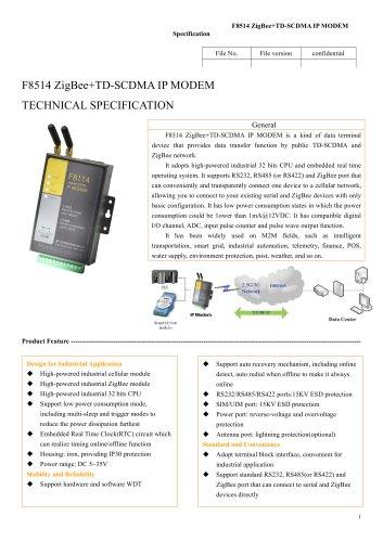 F8514 ZigBee+TD-SCDMA IP MODEM,zigbee modem