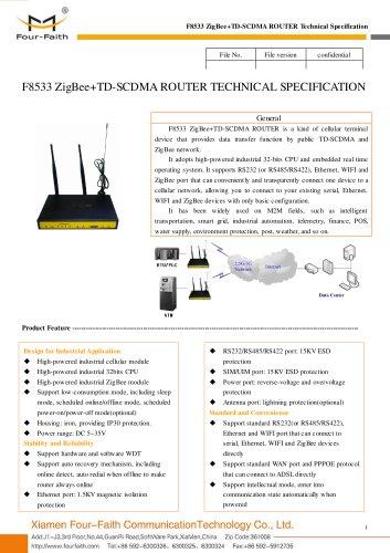 F8533 ZigBee+TD-SCDMA ROUTER