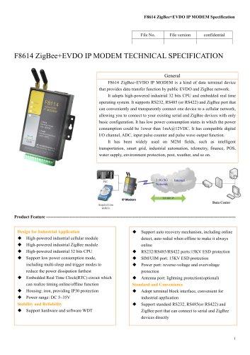 F8614 ZigBee+EVDO,zigbee wireless