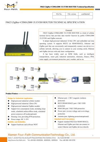 F8623 ZigBee+CDMA2000 1X EVDO ROUTER