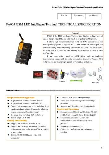 FA003 GSM LED Intelligent Terminal