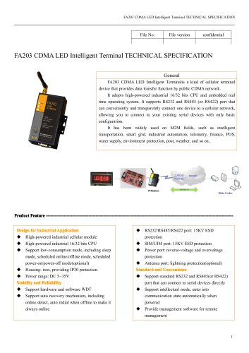 FA203 CDMA LED Intelligent Terminal
