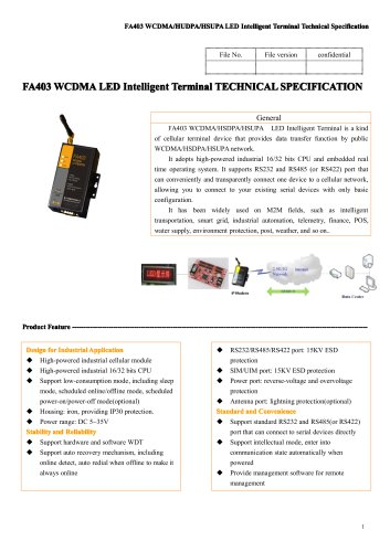 FA403 WCDMA LED Intelligent Terminal