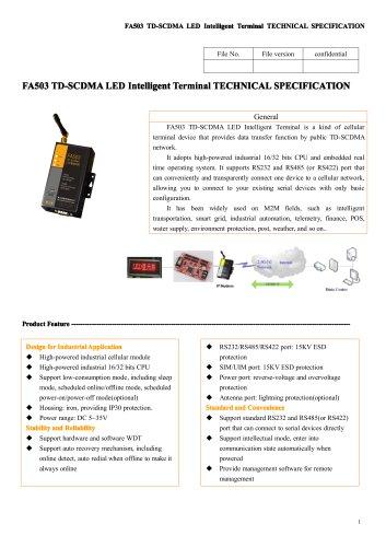 FA503 TD-SCDMA LED Intelligent Terminal