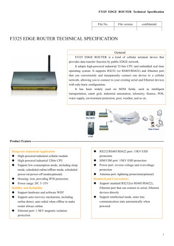 M2M Industrial EDGE ROUTER F3325