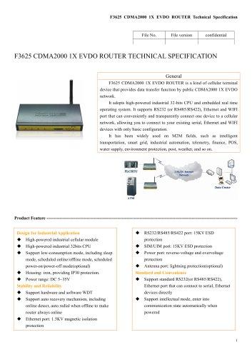 M2M Industrial EVDO ROUTER F3625